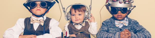 Gyerekek futurisztikus felszerelésben